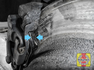 Illustration of step: Locate rear brake pads - step 11