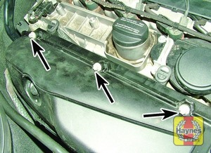 Illustration of step:  Undo the retaining bolts  - 611 and 612 type engines - step 3