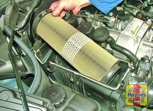 Illustration of step:  Remove the air filter element  - 646 type engines - step 21