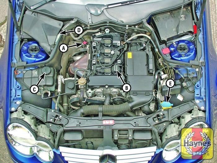 Mercedes benz c class 2000 2007 c220 cdi 2 1 fluid for Mercedes benz check coolant level