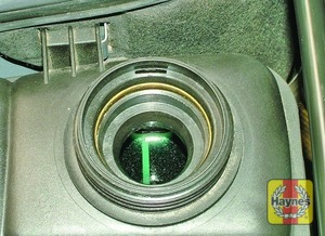 Illustration of step:  The coolant level varies with the temperature of the engine - Car care - step 20