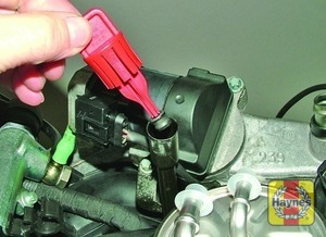 Illustration of step:  Some models, have a red cap fitted to the dipstick tube and NOT a dipstick - Car care - step 12