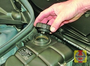 Illustration of step:  If topping-up is necessary, wait until the engine is cold - Car care - step 21