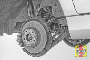 Illustration of step: Take a good look around brake system and the suspension arm, check for any leaks - step 13