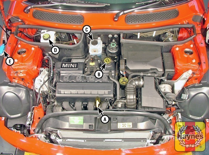 Mini Cooper S 2001 2006 1 6 Fluid Level Checks