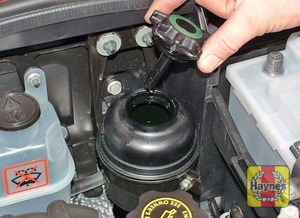 Illustration of step:  The reservoir is located near the rear of the engine compartment - Safety first! - step 22