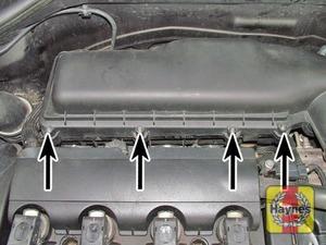 Illustration of step:  …and turbo models (arrowed)  - step 5