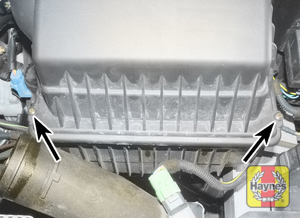 Illustration of step: Undo the air filter cover screws and lift off the cover  - 2.0 litre engines - step 8