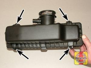 Illustration of step: Undo the four retaining screws - 1.4 DOHC models - step 24