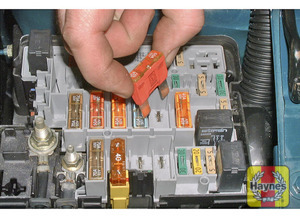 Illustration of step: Additional fuses are located in the fuse/relay box in the engine compartment - step 2