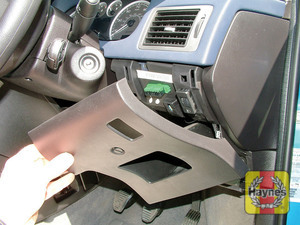 Illustration of step: Unclip the driver's side fascia panel for access to the diagnostic socket - step 2