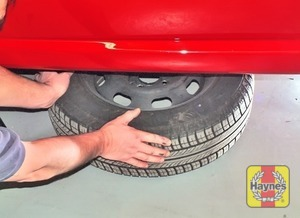 Illustration of step:  Unscrew the wheel bolts and remove the wheel - step 10