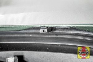Illustration of step: Check the efficiency washer jet nozzles, are they aiming high enough on the windscreen?  - step 5