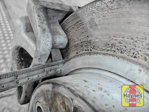 Illustration of step: Measure brake pad wear thickness - step 11