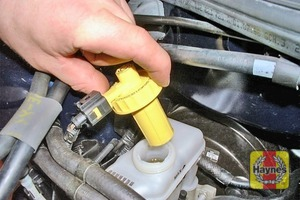 Illustration of step:  Unscrew and remove the reservoir cap -  Safety first! - step 30
