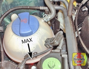 Illustration of step:  The coolant level varies with the temperature of the engine - Car Care - step 18