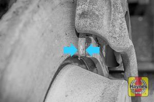 Illustration of step: Locate rear brake pads - step 11
