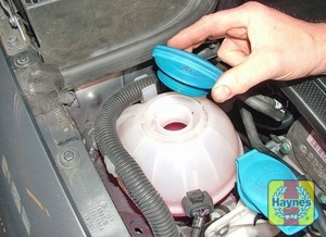 Illustration of step:  If topping-up is necessary, wait until the engine is cold - Car Care - step 19