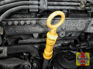 Illustration of step: When finished, replace the dipstick! - step 3