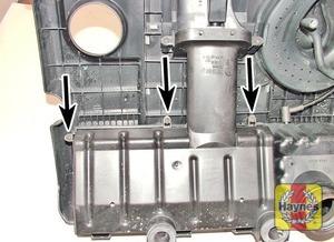 Illustration of step:  Undo the screws  - 1.2 litre engines - step 8