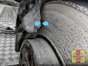 Illustration of step: Locate rear brake pads - step 10