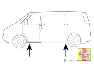 Illustration of step: Position the jack under the jacking point nearest the punctured wheel - step 7