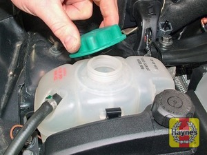 Illustration of step:  If topping-up is necessary, wait until the engine is cold - Car care - step 18