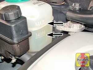 Illustration of step:  The coolant level varies with the temperature of the engine - Car care - step 17