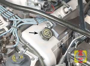 Illustration of step:  6 To add oil, remove the filler cap from the valve cover - step 6