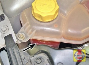 Illustration of step:  The coolant level varies with the temperature of the engine - Car Care - step 16