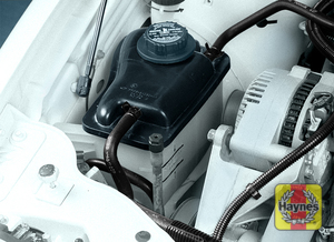 Illustration of step:  9 Check the coolant level in the expansion tank regularly - Engine coolant - step 10