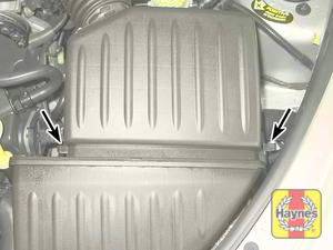 Illustration of step: 2 To remove the air filter, release the latches securing the cover to the air filter housing - step 2
