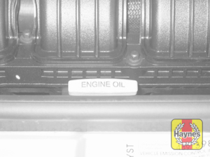Illustration of step: 2 The engine oil dipstick is located at the front of the engine and is clearly marked  - Engine oil - step 4