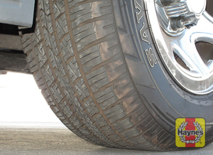 Illustration of step: Take a quick look at the tire treads and sidewall condition  - step 3