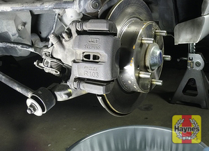 Illustration of step: Check the condition of the rear brakes - step 9