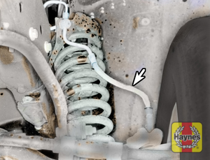 Illustration of step: Take a good look around brake system and the suspension arm, check for any leaks - step 7