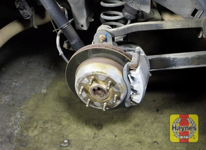 Illustration of step: Check the condition of the rear brakes - step 10