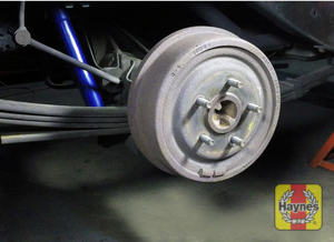 Illustration of step: Check the condition of the rear drum brakes (if fitted) - step 10