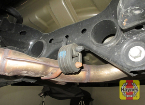 Illustration of step: Inspect the rubber exhaust mountings  - step 16