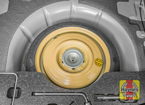 Illustration of step: Finally, check the condition of the spare tire - step 16