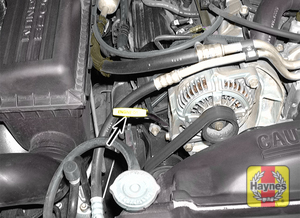 Illustration of step:  2a The engine oil dipstick is clearly marked (5 - Engine oil - step 4