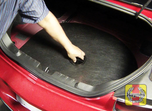 Illustration of step:  The battery is in the trunk  - step 1