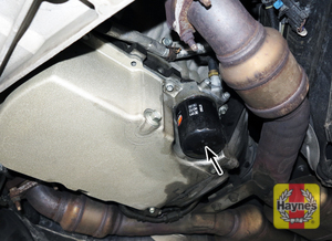 Illustration of step: The oil filter is in this area - step 1