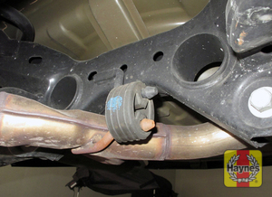 Illustration of step: Inspect the rubber exhaust mountings  - step 14