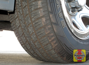 Illustration of step: Take a quick look at the tire treads and sidewall condition  - step 2
