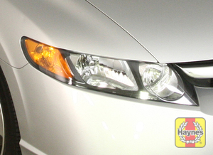 Illustration of step: Check headlights, high beam, low beam, parking light and turn signals  - step 2