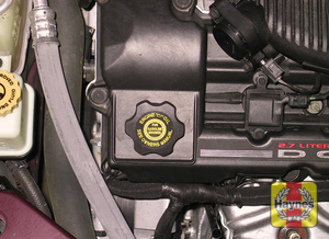 Illustration of step: 7 Turn the oil filler cap counterclockwise to remove it  - Engine oil - step 10