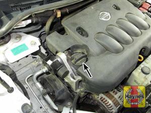 Illustration of step: 8 Oil filler cap location - Engine oil - step 10