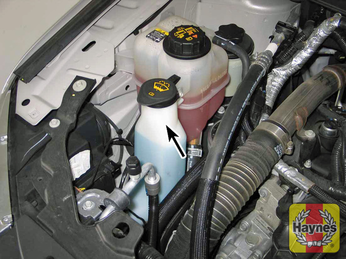 Illustration Of Step  Fluid For The Windshield Washer System Is Stored In A Plastic