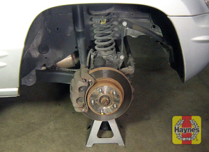 Illustration of step: Check the condition of the front brakes - step 3